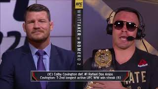 Michael Bisping & Colby Covington Exchange Heated words on FOX after UFC 225