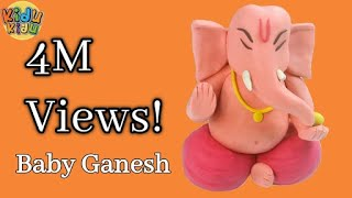 Baby Ganesha with Play Doh | How to make Ganesh Idol Play dough Model