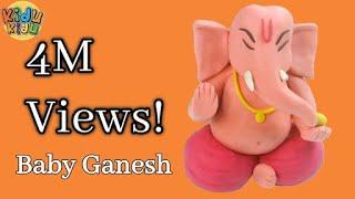 Baby Ganesha with Play Doh | How to make Ganesh Idol Play dough Model