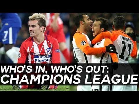 CHAMPIONS LEAGUE: Who's In, and Who's Out of the CHAMPIONS LEAGUE KNOCKOUT STAGES?