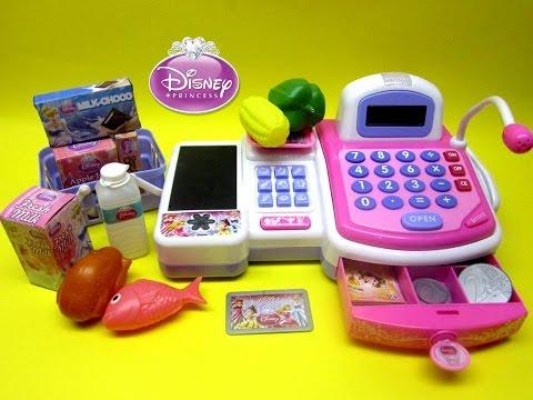 Disney Princes Cash Register Playset Toy Review, Shopkins - Kiddie Toys