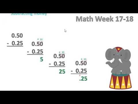 2nd grade Math Week 17-18 Adding & Subtracting Money - YouTube