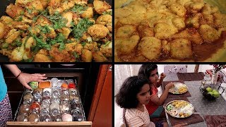 INDIAN SPECIAL LUNCH ROUTINE | Aloo Gobhi Matar Masala | PAKOD…