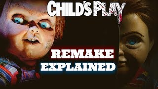 """NEW Child's Play (2019) Remake Motion Poster (Hidden Meaning) https://youtu.be/Uwtj9vcTnqY  In This Video I Explain The Childs Play Remake/Reboot That MGM is Making with director Lars Klevberg (Polaroid) Starring Aubrey Plaza, Brian Tyree Henry, & Gabriel Bateman. Also Reacting to the FIRST PHOTO LOOK of the New Good Guy Doll. This Remake is separate from the Don Mancini straight To Video/ TV Series by Universal Studios Continuing the lore of The original Child's Play Movie With Chucky.  Child's Play Remake Plot   """"Child's Play Follows a Mother who gives her son a toy doll for his birthday unaware of its more sinister nature""""  Twitter: https://twitter.com/3CFilmReview Facebook: https://www.facebook.com/3CFilmReview/  Business Inquiries: 3CFilmReview@Gmail.com  Thank You For Any Support!"""