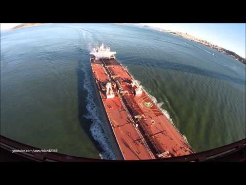 Devon Tanker Ship Under the Golden Gate Bridge GoPro Hero3+ Euronav
