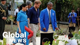 Prince Harry, Meghan Markle attend Queen's canopy unveiling ceremony in Tonga