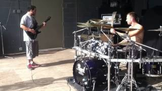 Diego (Volumes) and Andrew (Chelsea Grin) jam session