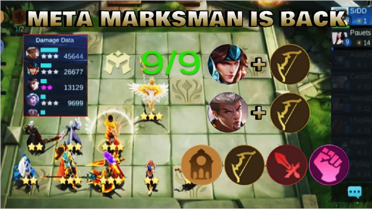 meta marksman is back | best synergy - top global magic chess player | mobile legends bang bang