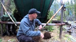 Bushcraft Woodcraft Camp, 8x10 Tarp  Folding Shelter