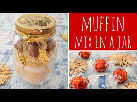 Almond Praline Muffin Mix In A Jar - Perfect DIY Christmas Gift | Recipe Diary