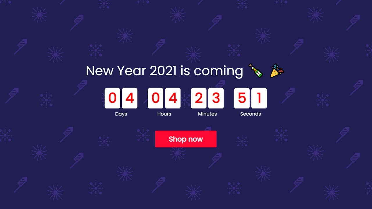 New Year Countdown Timer Effect without Writing Any Single Code - Very Easy