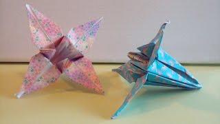 origami facile : la fleur d'iris (flower par Alexandre, 6 ans)