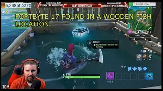 FORTNITE FORTBYTE #17 LOCATION UNLOCK FOUND INSIDE WOODEN FISH EASY FIND