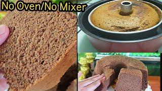 No Oven Mocha Chiffon Cake/Fluffy Cake