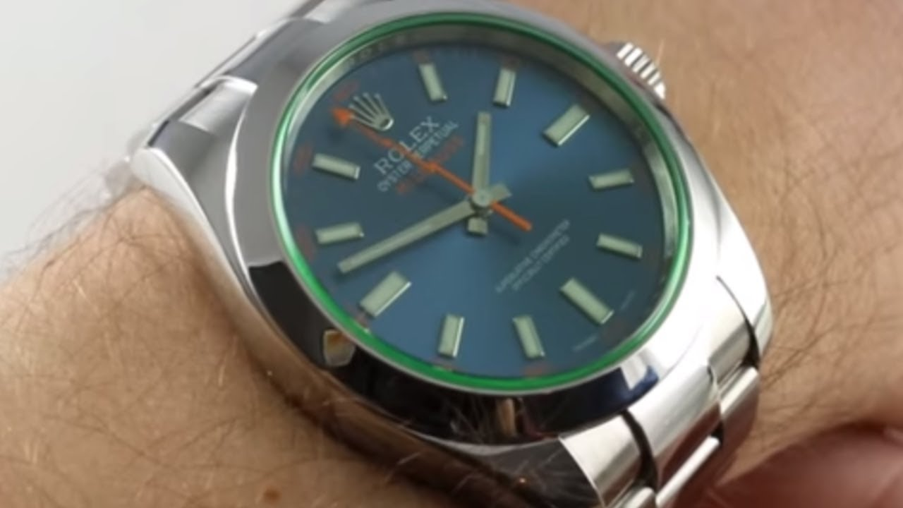 Pre,Owned Rolex Milgauss 116400GV Z,Blue Luxury Watch Review
