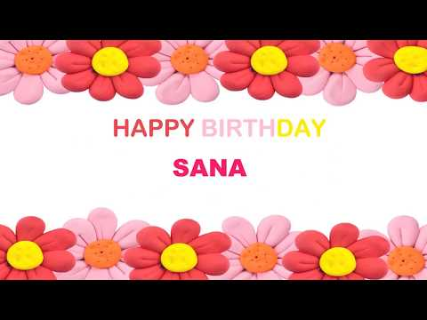 Sana   Birthday Postcards & Postales - Happy Birthday