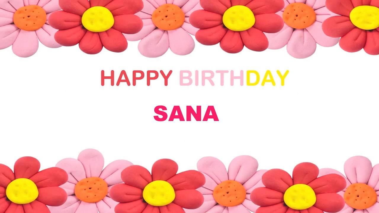Sana Birthday Postcards & Postales