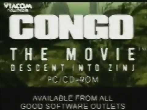 Congo The Movie: Descent into Zinj - Video Game Trailer (1995, PC Windows, FR)