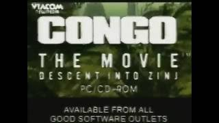 Congo The Movie: Descent into Zinj - Video Game Trailer (1995, PC Windows, FR)