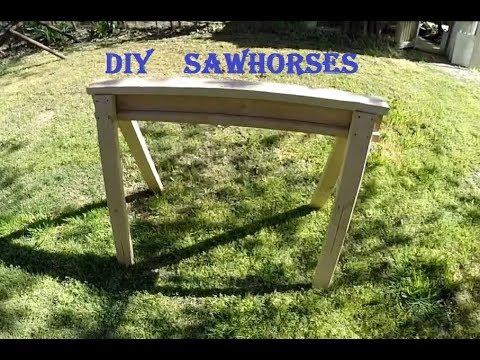 DIY Custom Sawhorses - Quick & Easy - Contractor Grade