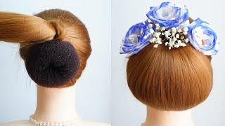 Medium Length Prom Hairstyles Easy Bun Hairstyle Girls For Wedding Hairstyle Girl Medium Hair