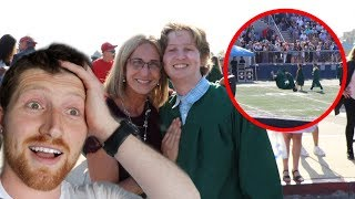 HE DID A BACKFLIP AT HIS HIGHSCHOOL GRADUATION!! Video