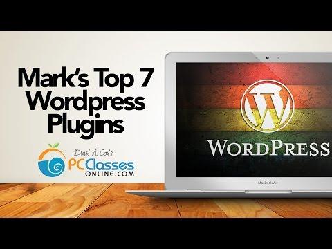 Mark's Top 7 Plugins for Wordpress