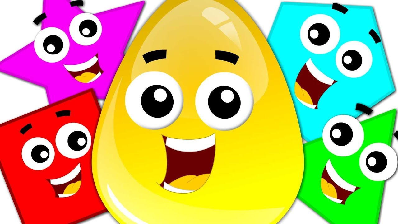 Learn Colors & Shapes with Crazy Eggs   Preschool Learning Videos for Children