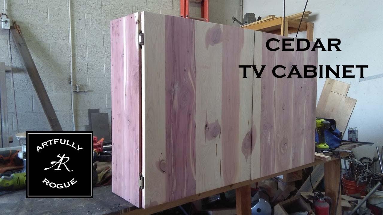 Cedar TV Cabinet   YouTube