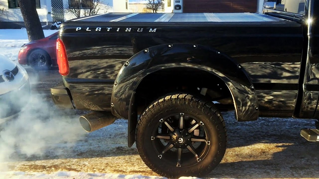 2015 Ford F350 6.7 Powerstroke Straight Pipe Cold Start ...