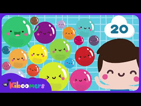Bubbles Song | Counting to 20 | Song for Kids | The Kiboomers