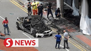 Singapore CNY tragedy: Five die after car slams into shophouse, fire breaks out