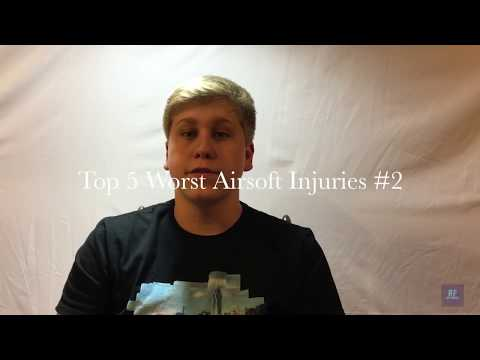 Top 5 WORST Airsoft Injuries-(GRAPHIC) #2 (Top 5 Episode #4)