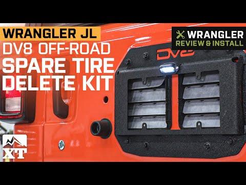 Jeep Wrangler JL DV8 Off-Road Spare Tire Delete Kit Review & Install