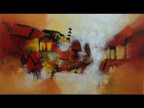 Painting on canvas abstract acrylic paint kitaro for How to make a canvas for acrylic painting