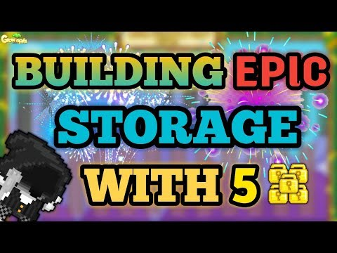 BUILDING A PRO STORAGE WORLD WITH 5 WLS | Growtopia - Challenge