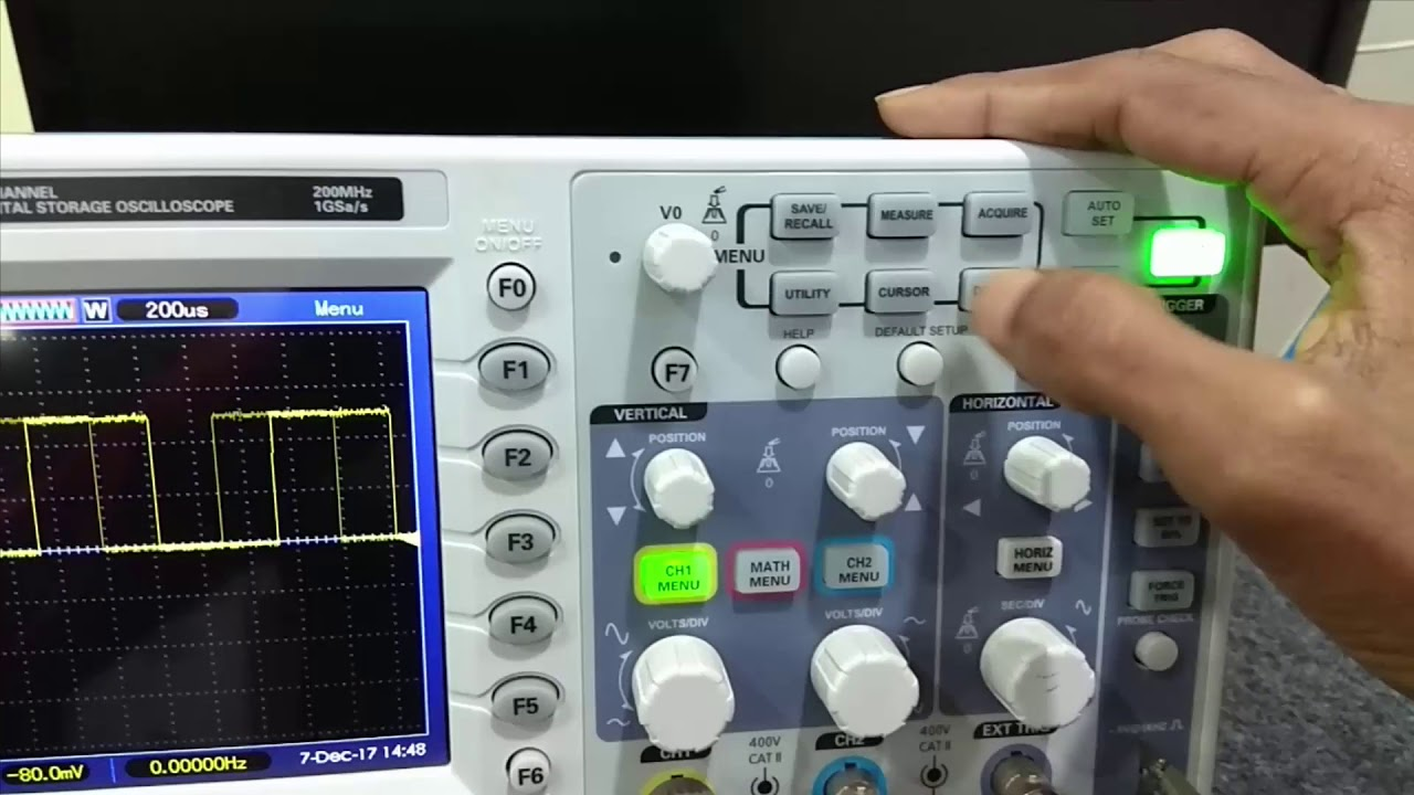 Cro Dso Explained In Hindi Part 2 How To Use Digital Oscilloscope Cathode Ray Tutorial For Beginners