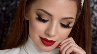 Neutral Smokey Eye & Red Lips Makeup Tutorial