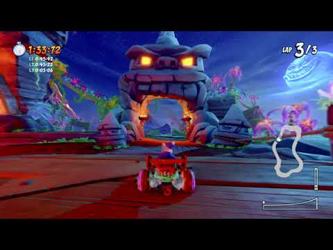 Crash Team Racing Nitro Fueled Inferno Island (Time Trial)