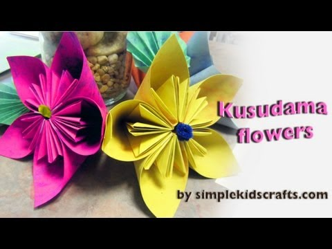 How to make an origami japanese kusudama flower ep how to make an origami japanese kusudama flower ep simplekidscrafts simplekidscrafts mightylinksfo