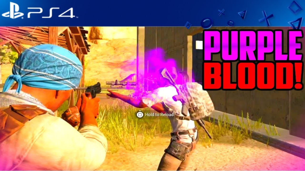 PUBG PS4 PINK AND PURPLE BLOOD TUTORIAL
