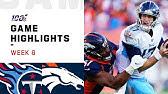 Titans vs. Broncos Week 6 Highlights | NFL 2019