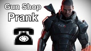 Commander Shepard Calls Gun Stores - Mass Effect Prank