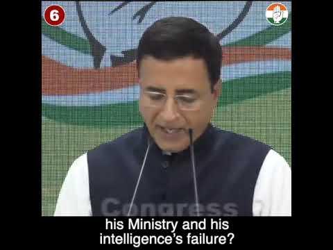AICC Press Briefing By Randeep Singh Surjewala at Congress HQ on Pulwama terror attacks