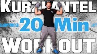 Workout Zuhause mit Kurzhantel - 20 Minuten Hanteltraining - Muskeln aufbauen ohne Fitnessstudio