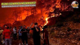 Kebakaran Hutan Besar-Besaran Ratakan Yunani Dalam Semalam, Inikah Pemandangan N3R4KA di Bumi.?