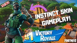 "*NEW* FORTNITE ""INSTINCT"" SKIN GAMEPLAY! [Some What Good Fortnite Player]"