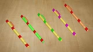 How to make a simple paper Pocket Pen gun without hot glue