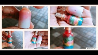 MINIATURE  BOTTLE ART // SIMPLE ART//EASY STEPS // BY MILUSSS STATION