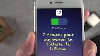 iOS 12 : 7 ASTUCES POUR AUGMENTER LA BATTERIE DE SON APPAREIL - iPhone/iPod/iPad